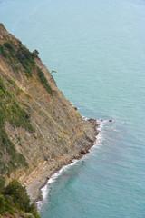 cliff of cinque terre coastline