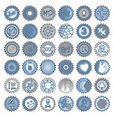 Bottle caps mosaic
