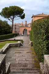 Villa Lante with Bagnaia Walls In The Background