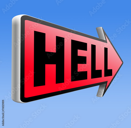 canvas print picture welcome to hell