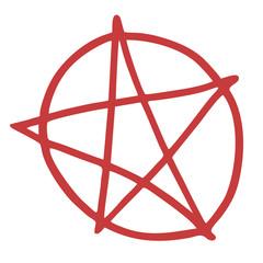 Hell pentagram symbol