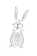 Frohe Ostern - Osterhase mit Ei