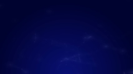 Slowly moving spider's web on the dark blue background