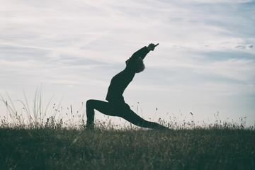 Yoga-Virabhadrasana/Warrior pose