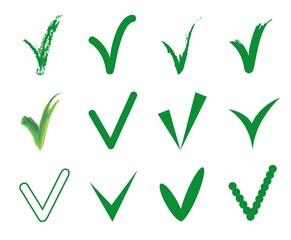 Векторный набор из двенадцати различных зеленый вектор