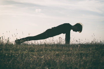 Yoga-Dandasana /Plank pose