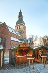 Christmas Market in Riga, Dome Square