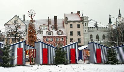Christmas Market in Riga Plaza Liv