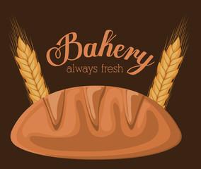 Bakery design over brown background vector illustration