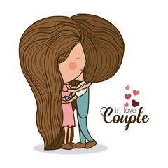 Romantic day design, vector illustration