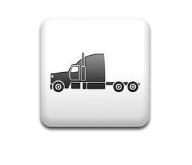 Boton cuadrado blanco 3D camion lateral