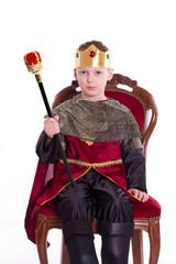 der König auf seinem Thron - auf weißem Hintergrund