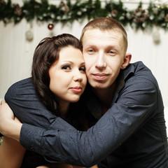 Loving girl and boy, portrait