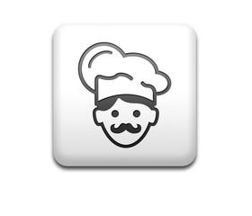 Boton cuadrado blanco 3D cocinero