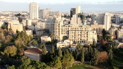 Contemporary Western Jerusalem at winter