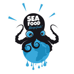 oktopus kraken lustig tintenfisch
