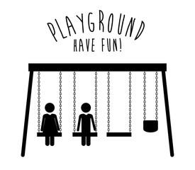 Playground design,vector illustration.