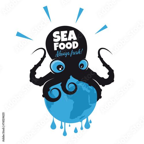 oktopus kraken lustig tintenfisch - 76024620