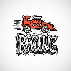 Racing Icon Sketch
