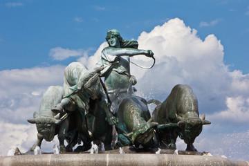 Figuren des Gefion-Brunnen Kopenhagen