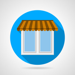 Flat vector icon for window with canopy