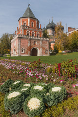 Bridge Tower and the Cathedral in manor Izmailovo in Moscow
