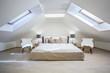 Bright attic bedroom in the  apartment - 76025869