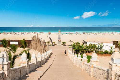 Tuinposter Overige Chaves beach Praia de Chaves in Boavista Cape Verde - Cabo Verde