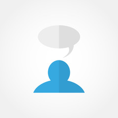 man and a cloud of thoughts icon