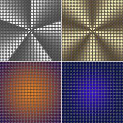 set of Metal mesh texture background