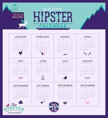 2015 hipster calendar