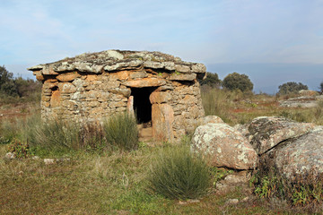 Chozo en la Morisca, Montehermoso, Cáceres, España