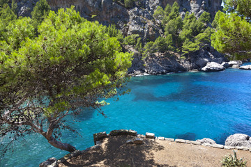 Beautiful turquoise bay in Mallorca island, Spain