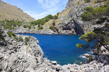 Sa Calobra canyon and coast, Palma de Mallorca island, Spain