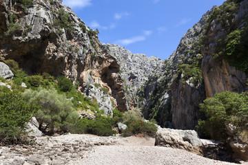 Canyon at Pareis Sa Calobra, Mallorca island, Spain