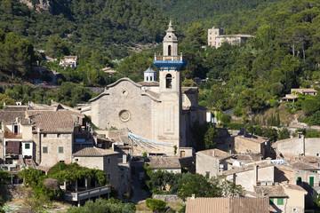 View of Valdemossa village in Mallorca island, Spain