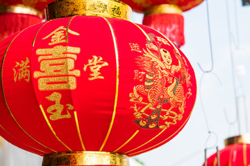Red Chinese lantern  for  Chinese new year