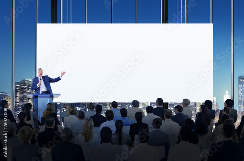 Diversity Business People Meeting Conference Concept - 76027008