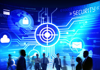 Business People Commuter Technology Security Target Concept