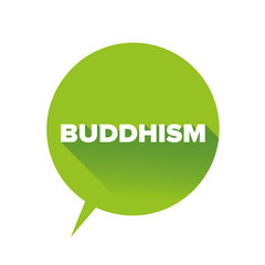 Buddhism sign vector