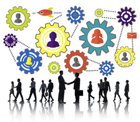 Business Team Partnership Collaboration Support Concept