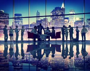 Business People Meeting Corporate Office Buildings Working