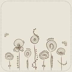 Floral background. Vector illustration. Eps 10