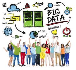 Diversity People Big Data Management Teamwork Concept