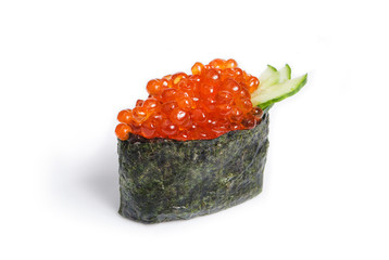 Tobiko Gunkan with salmon caviar