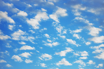 Close up cloudy in blue background