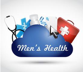 mens health cloud computing illustration