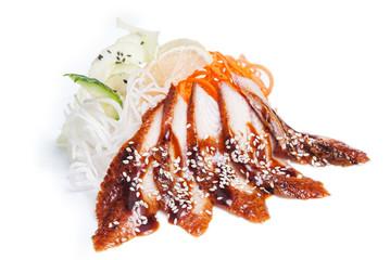 Sashimi with eel