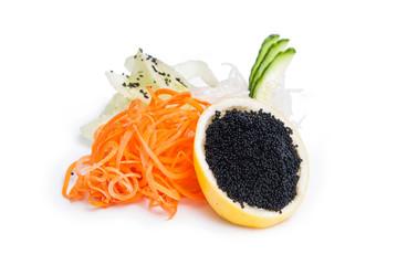 Sashimi tobiko caviar