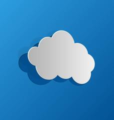 Cut out cloud, blue paper